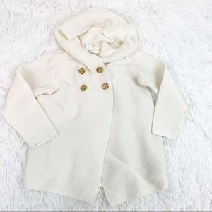 Gap toddler girl size 4 hooded ribbed cardigan